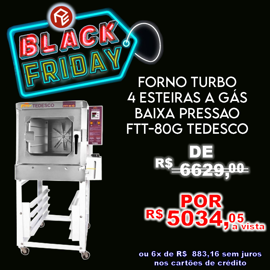 Forno Turbo FTT-80G Tedesco