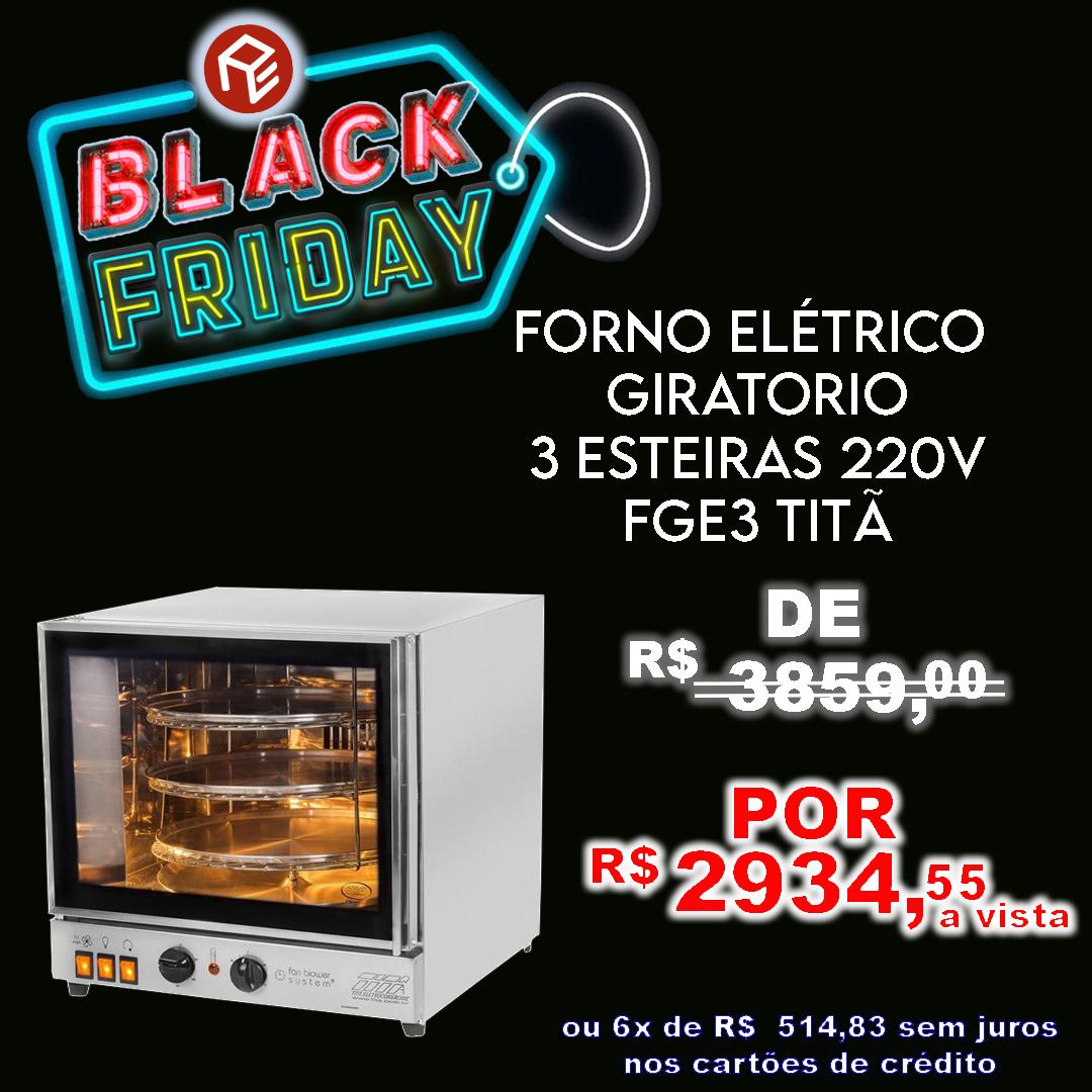 Forno Giratório Turbo para pizza FGE3 Titã