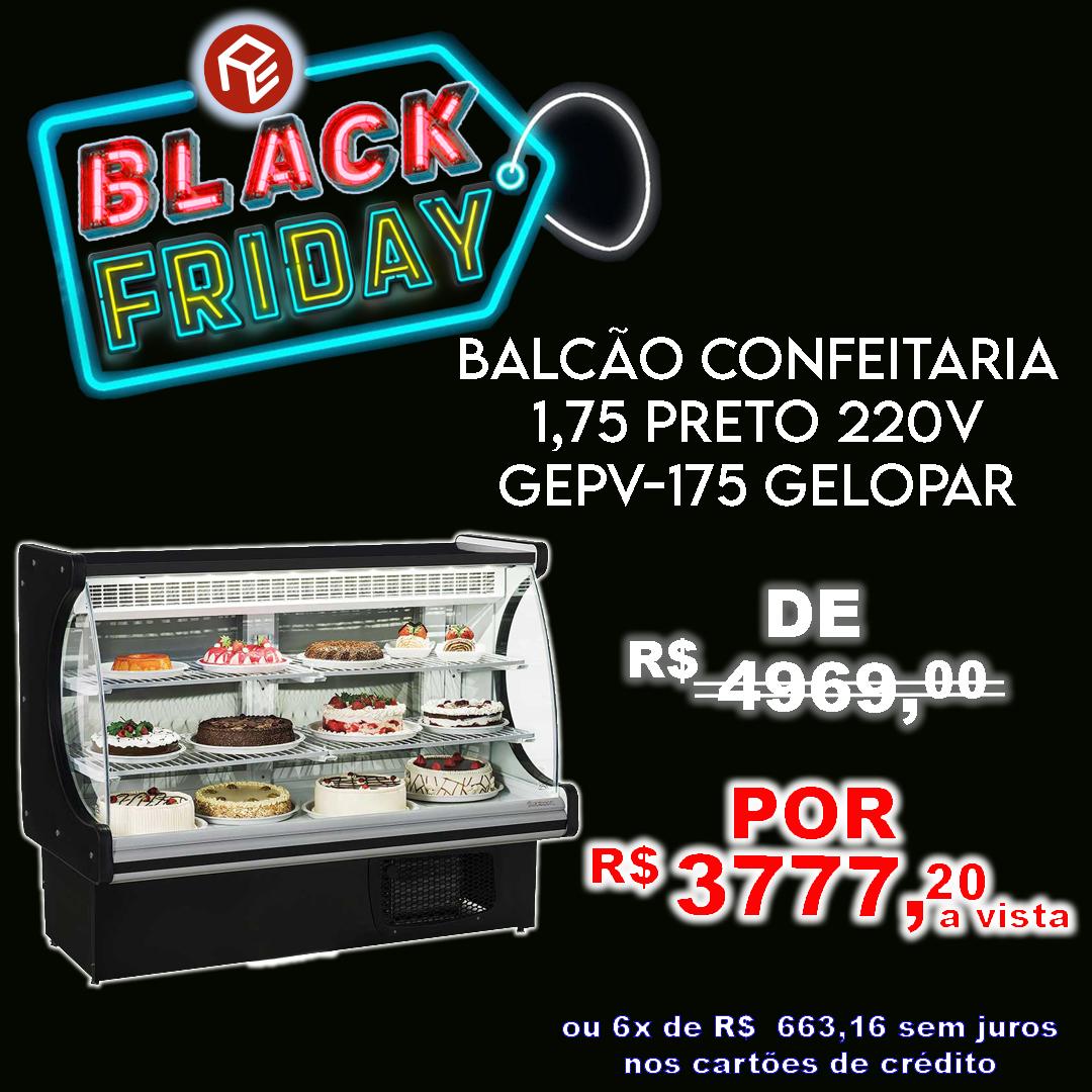 Balcão Refrigerado Confeitaria GEPV-175 Gelopar