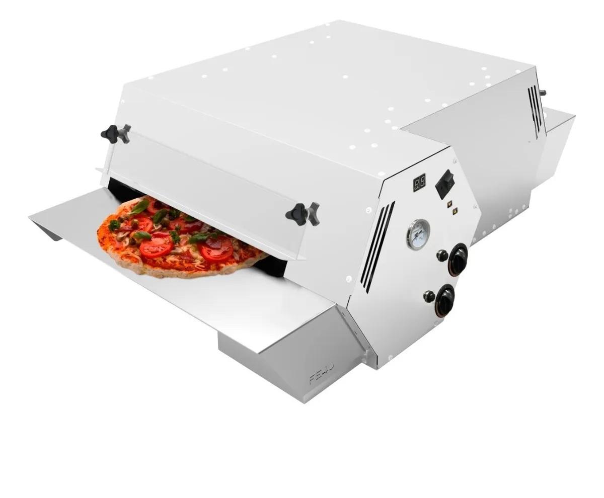 Forno refratário pizza 110x60cm esteira turbo Saro