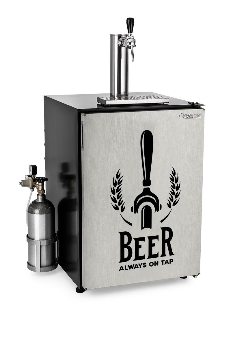 Refrigerador para barril Kegerator 170l GRKG-170BELPR capacidade para barril de 30 litros Gelopar