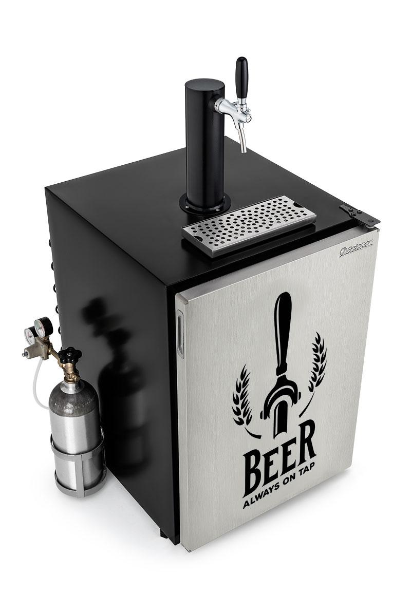 Refrigerador para barril Kegerator 170l GRKG-170ITAPR capacidade para barril de 30 litros Gelopar