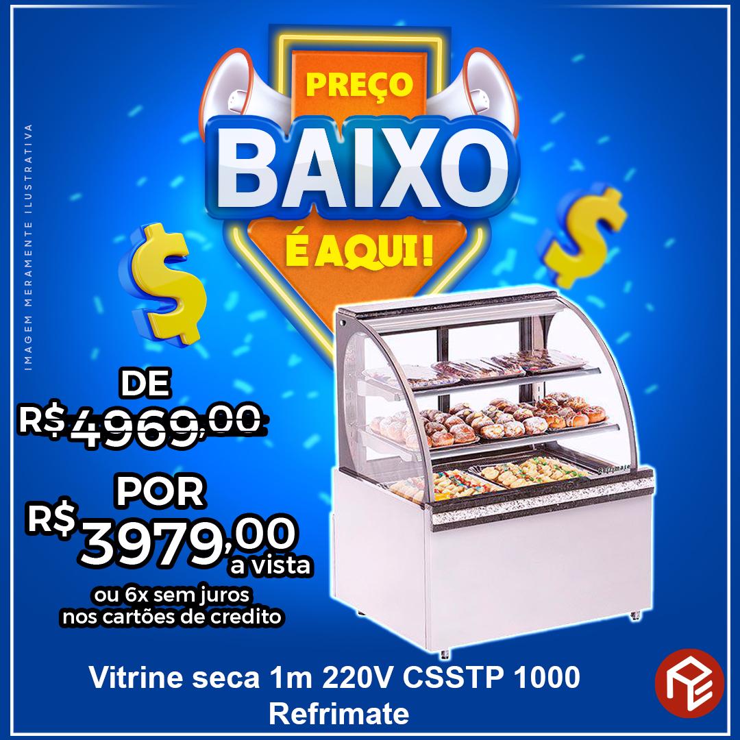 Vitrine Seca 1,00m Super Top Platinum CSSTP1000 220V Refrimate