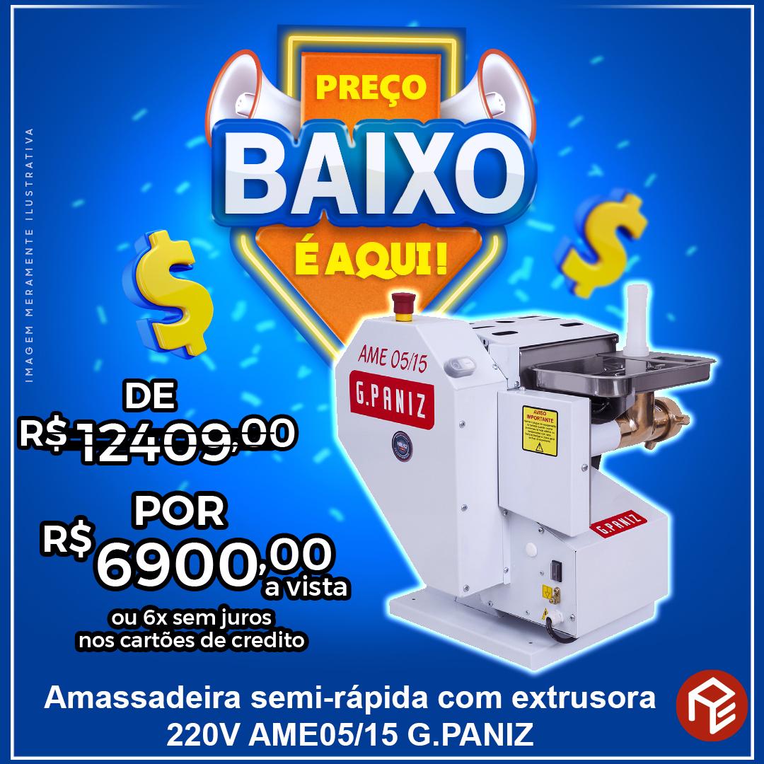 Amassadeira Basculante com extrusora AME-05/15 G.Paniz