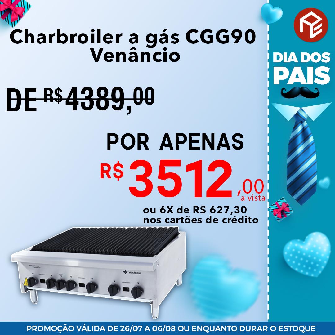 Charbroiler CGG90 a gás Venâncio