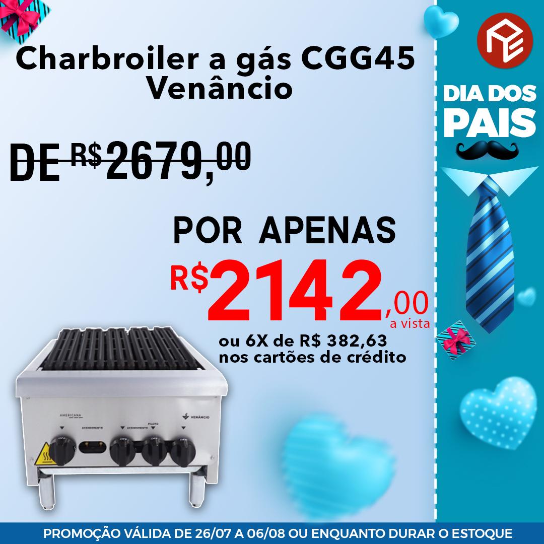 Charbroiler CGG45 a gás Venâncio