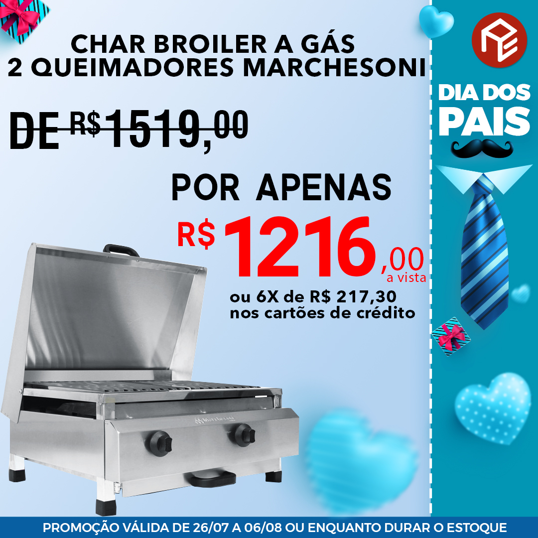 Char Broiler a gás CH.4.052 Marchesoni