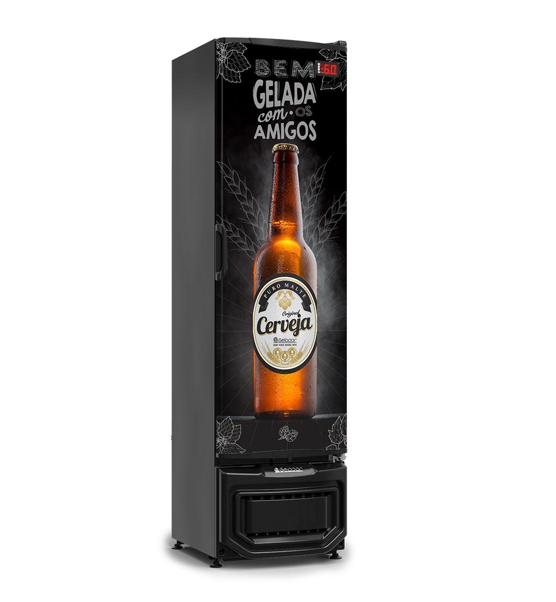 Cervejeira 01 porta cega GRB-23EP/PR Gelopar