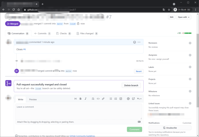 GitHub pull request width=640