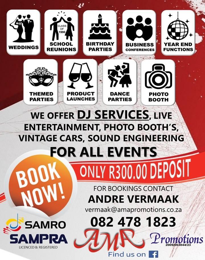 AMA Productions Klank en Beligting in Pretoria