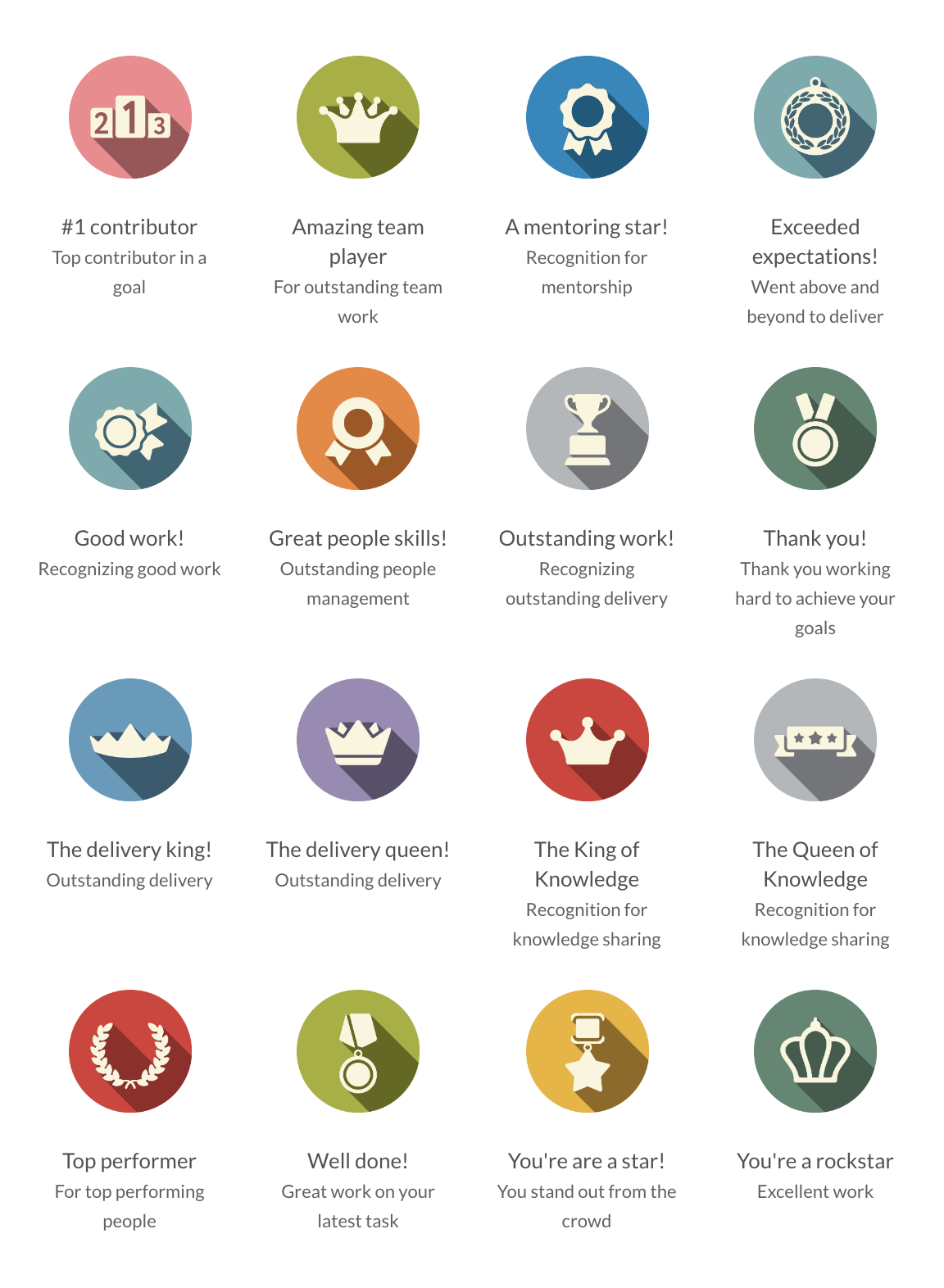 Employee recognition badges