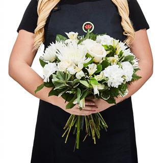 Simply White Hand Tied Bouquet - Florist's Choice