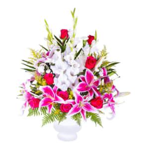 Precious  Pink Funeral Arrangement