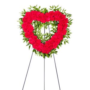 Carnation Heart Wreath