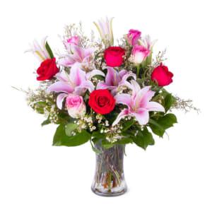 Blushing Rose & Lily