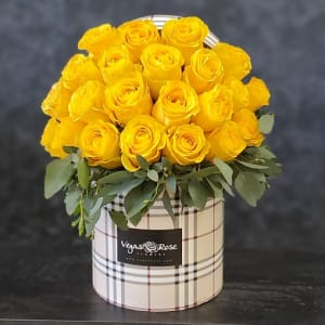 YELLOW ROSES IN ANY BURBURRY BOX