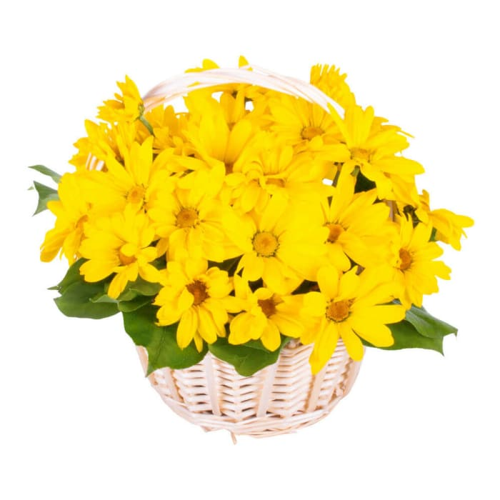 Yellow Daisies Basket