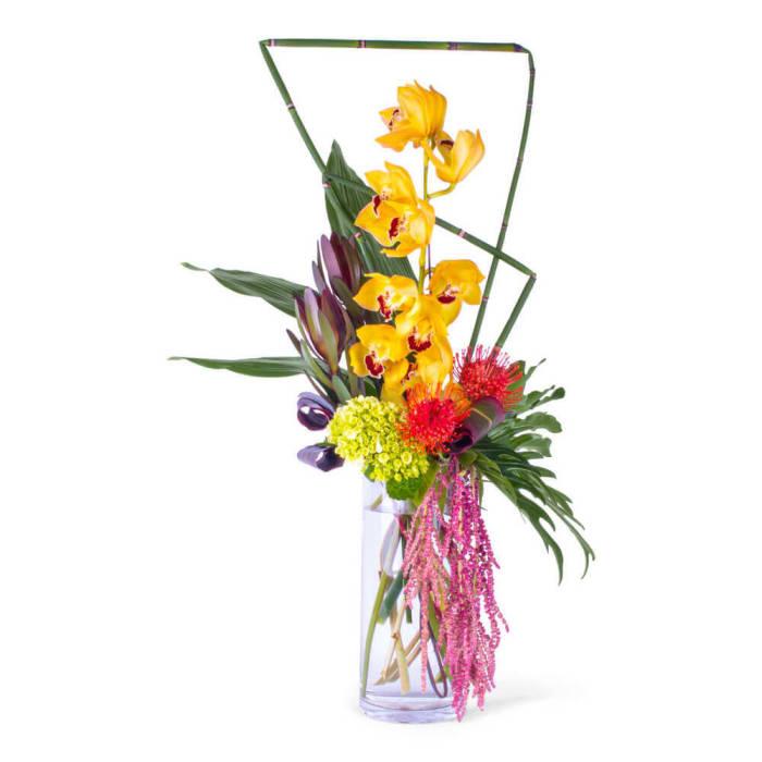 Modern Cymbidium Orchids Bouquet
