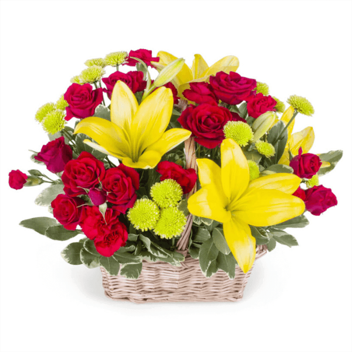 Yellow and Red Basket