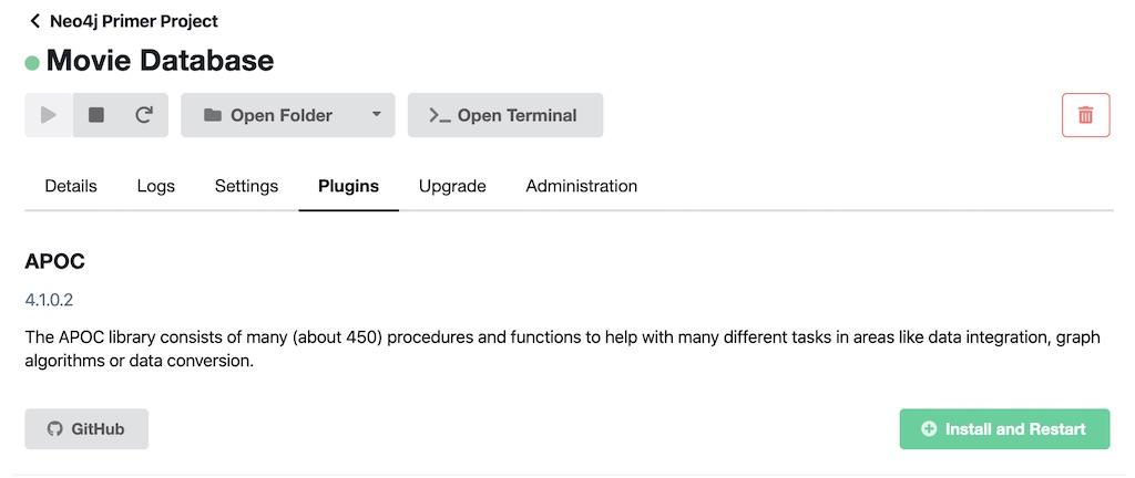 Neo4j Install APOC for DB
