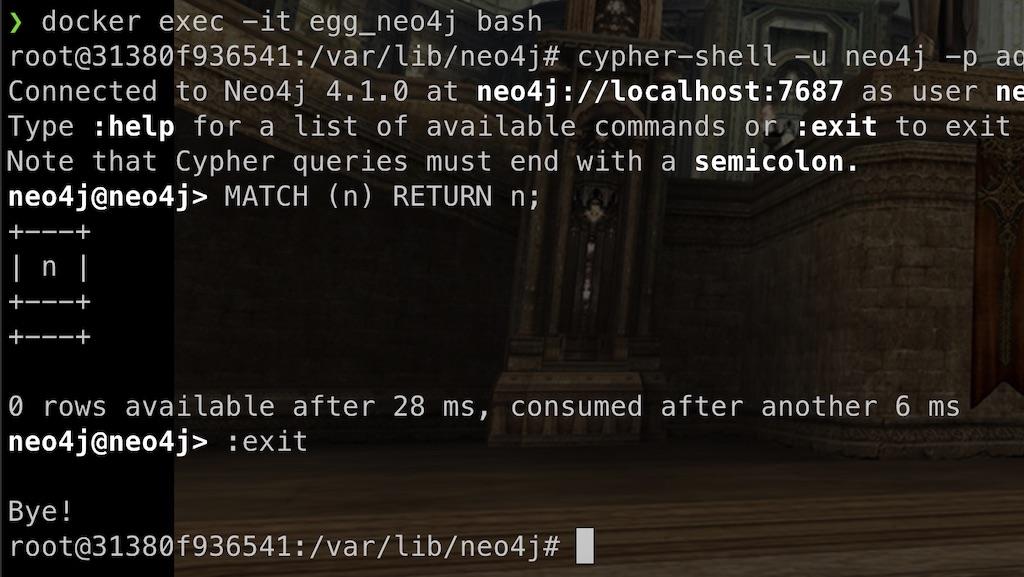 Neo4j Docker bash