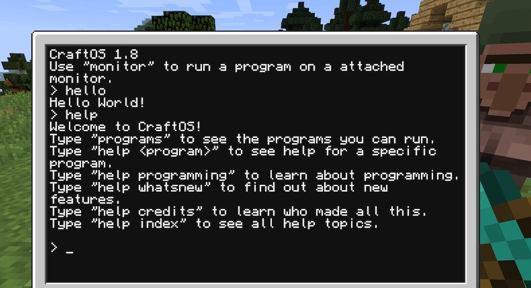 CC: Tweaked 的 Computer 開機畫面