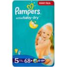 PAMPERS Active Baby Pieluchy Rozmiar 5 Junior (11-18kg) 68 szt 1szt