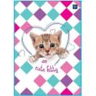 INTERDRUK Notebook A5 32 cards grid 1pc