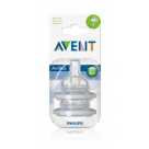 PHILIPS AVENT Soft silicone teat - slow flow (1m+), 2 pcs. 1 pc