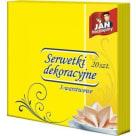 JAN NIEZBĘDNY Serwetki dekoracyjne 40x40 (żółte), 20 szt. 1szt