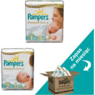 PAMPERS Premium Care Pieluchy Rozmiar 1 (78szt) i Rozmiar 2(2x72szt) Zapas na miesiąc 1szt
