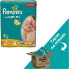 PAMPERS New Baby Dry Pieluchy Rozmiar 2 (3-6kg) 3x80 szt Zapas na miesiąc 1szt