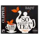 CLIPPER Black Tea 80 Bags Fair Trade 1 pc