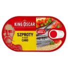KING OSCAR Szproty w oleju caro z marchewką i groszkiem 170g