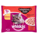 WHISKAS 1+ Cat Food - Cream Traditional Soup Tastes (4 sachets) 340 g