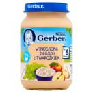 GERBER DESEREK Winogrona i jabłuszka z twarożkiem - Po 6 miesiącu 190g