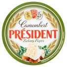 PRESIDENT Camembert Cheese with green pepper 120 g