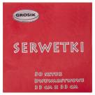 GROSIK Napkins red 33x33 50 pcs. 1pc