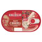 KING OSCAR Mackerel fillets in tomato sauce with peppers 170 g