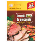 JAN NIEZBĘDNY Bags for cooking meat and vegetables 5 pcs 1 pc