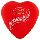 LINDT Lindor Heart Tin Praliny mleczne z delikatnym nadzieniem 50g