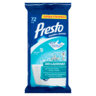PRESTO Wet wipes for cleaning the bathroom 72 pcs 1pc