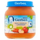 GERBER DESEREK Jabłka z marchewką i winogronami - Po 4 miesiącu 130g