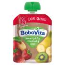 BOBOVITA 100% SMAKU Banan i jabłko z truskawką i kiwi po 6 miesiącu 80g