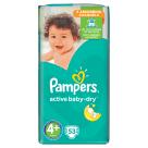 PAMPERS Active Baby Pieluchy Rozmiar 4+ Maxi+ (9-16kg) 53 szt 1szt