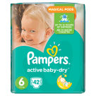 PAMPERS Active Baby Pieluchy Rozmiar 6 Extra Large (15+kg) 42 szt 1szt