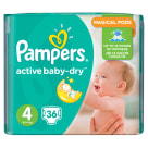 PAMPERS Active Baby Pieluchy Rozmiar 4 Maxi (8-14kg) 36 szt 1szt