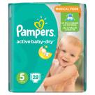 PAMPERS Active Baby Pieluchy Rozmiar 5 Junior (11-18kg) 28 szt 1szt