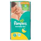 PAMPERS New Baby Dry Pieluchy Rozmiar 2 Mini (3-6kg) 66 szt 1szt