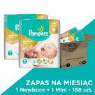 PAMPERS Premium Care Pieluchy Rozmiar 1+2  (2-5kg oraz 3-6kg) 168 szt. 1szt